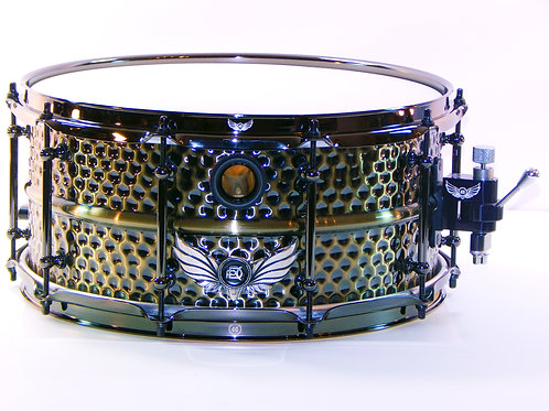 Brass Shell Hammered Majewel Fat Cat Snare