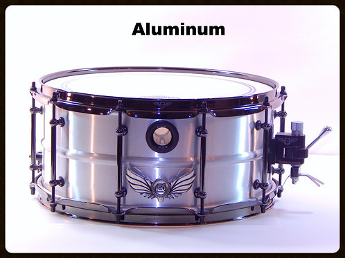 Aluminum Shell Silver Hawk Snare
