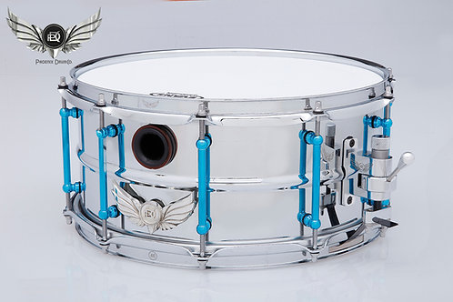 The PDC, Blue Steel Chrome Plated Fat Cat Snare