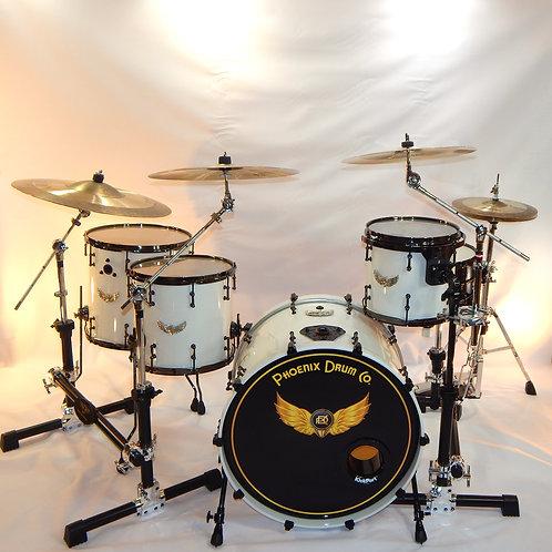 Phoenix DrumCo. White Pearl Bonzo Kit