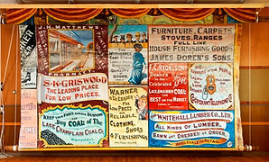 West Haven, VT, Town Hall, Advertising Curtain by Sinai Richer