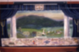 West Windsor Hist Soc, VT, Advertising Grand Drape by Helen Tooker