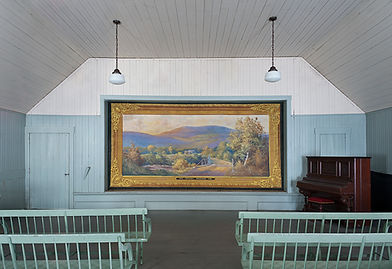 Sandwich, NH, Hist. Soc (former Grange) Grand Drape by Fred Quimby