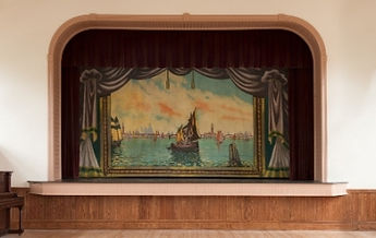 Bethel, VT, Town Hall Grand Drape by Enkeboll Scenic Company