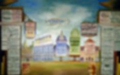 Hillsboro, NH Hist. Soc. Street Scene by Arthur Ives
