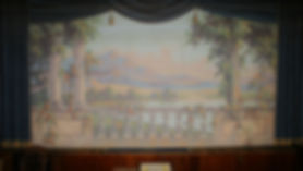 Narragansett Hist Soc (former Templeton Grange) Grand Drape by William Tandy