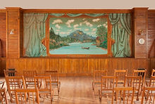 North Hyde Park, VT  Community Hall Grand Drape by Charles Andrus