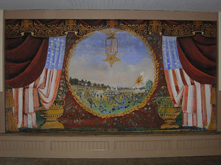Chittenden, VT, Town Hall, Grand Drape by Charles Henry