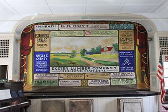 Newton Center, NH, Grange Advertising curtain by Anderson Scenic Co, Buffalo, NY