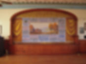 Benton Grange Hall, Benton, ME, Advertising Grand Drape by Wood Brothers