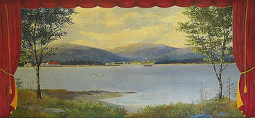 Salisbury Cove, ME,  Community Hall, Grand Drape by Maxwell Leland