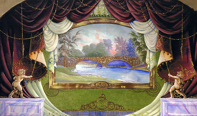 Hillsboro, NH,  Hist. Soc, Grand Drape by Arthur Ives