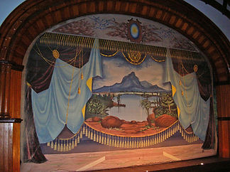 Edwards, NY, Opera House Grand Drape by Yerance & Berry