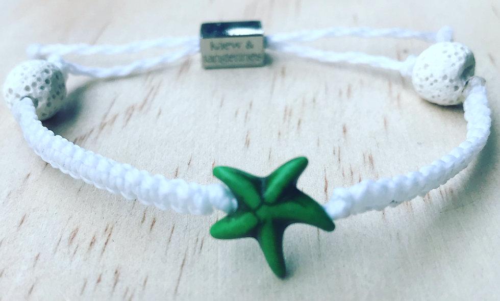 Colored Starfish Charm Bracelet