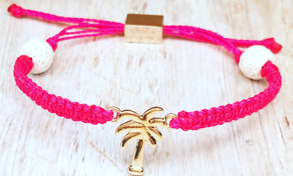 Gold Palm Tree Charm Bracelet