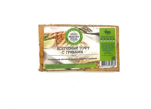Копченый тофу с грибами и специями