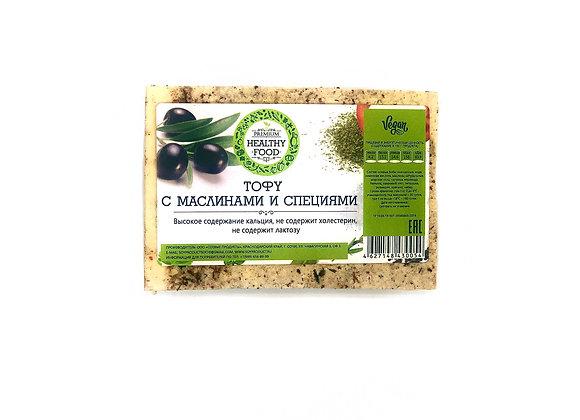 Тофу с маслинами и специями