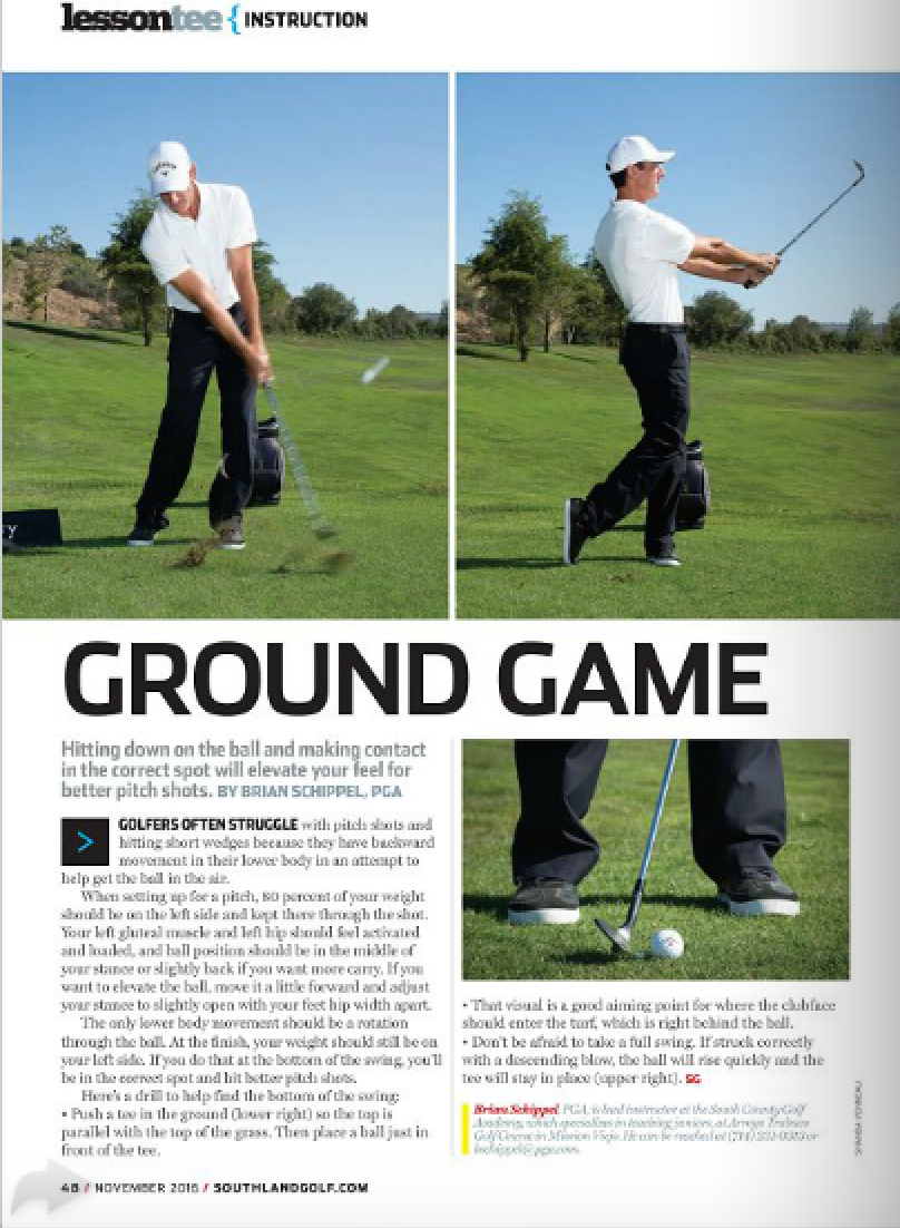 Featured in SouthLand Golf Magazine!