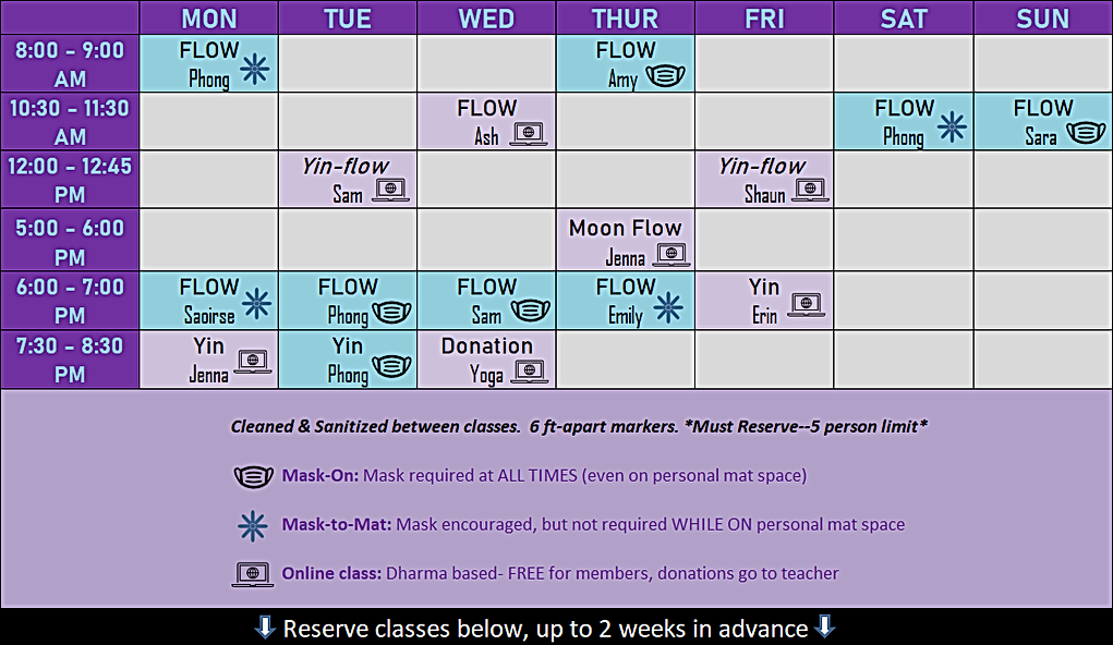 Mask On classes schedule.PNG