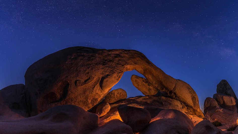 Arch rock blue hour