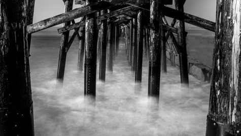 A pier on clouds