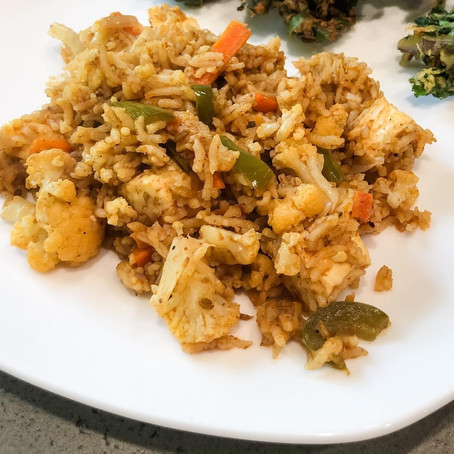 Vegetable and Paneer Pulav