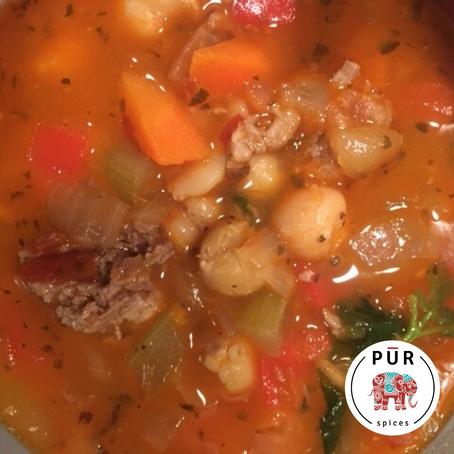 Mint Harissa Lamb Soup