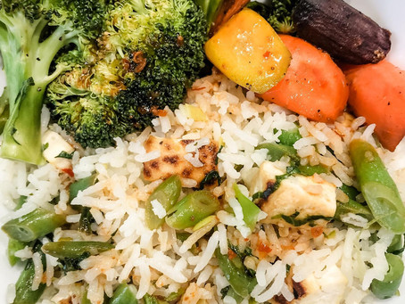 Coconut Rice with a Tangy Harissa Sauce
