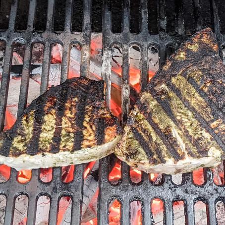 Green Chutney Grilled Swordfish
