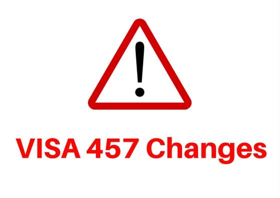 VISA 457 Update ! New Temporary Skill Shortage