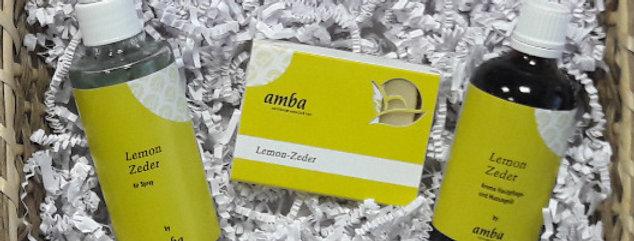 Lemon-Zeder Set im Geschenkkörbchen