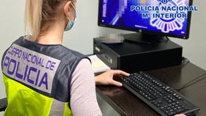 La Policía Nacional detiene a un joven por simulación de delito y estafa de más de 5.000 euros.