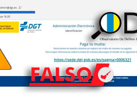 El falso Email que suplanta a la DGT