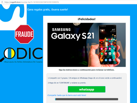 Phishing: Samsung Galaxy S21