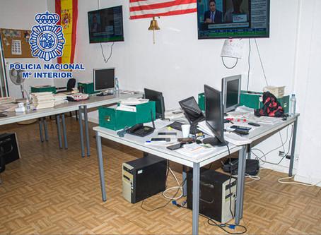 """Desmantelado un """"chiringuito financiero"""" con brókeres autorizados y sede en Madrid"""