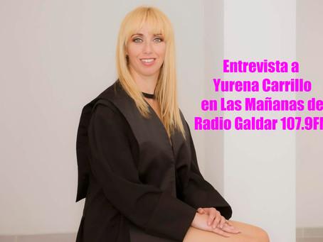 Entrevista a Yurena Carrillo en Las Mañanas de Radio Gáldar 107.9FM
