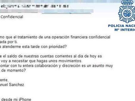 La Policía Nacional alerta de una nueva ciberestafa contra empresas españolas