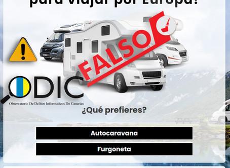 La nueva estafa de Autocaravanas es seguida por más 70.000 usuarios en Facebook