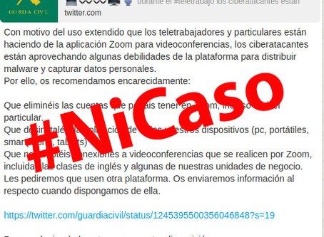 La Guardia Civil no ha recomendado desinstalar la aplicación Zoom