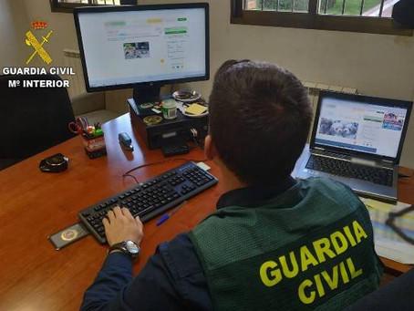 La Guardia Civil de León investiga a dos personas, residentes en Santa Cruz de Tenerife y Madrid
