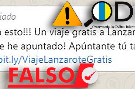 Estafa: falsa promoción por whatsapp de viajes gratis a Lanzarote