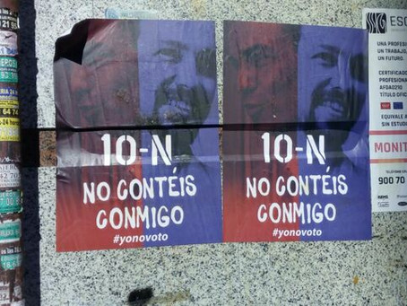 Una campaña de anuncios en Facebook y carteles en la calle promueve la abstención entre votantes ...