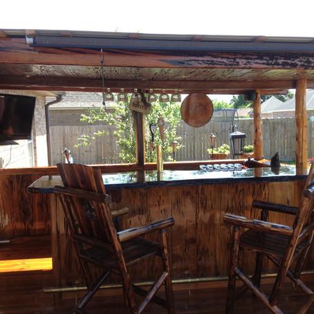 Sinker Pecky Cypress Backyard Bar