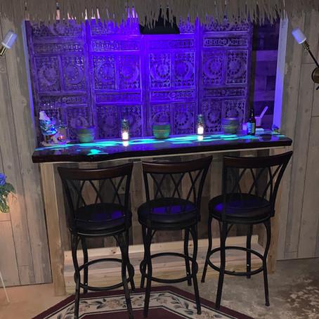 Glow in the Dark Resin Bar Top