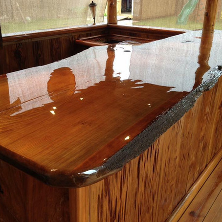 Custom Sinker Cypress and Reclaimed Cypress Counters