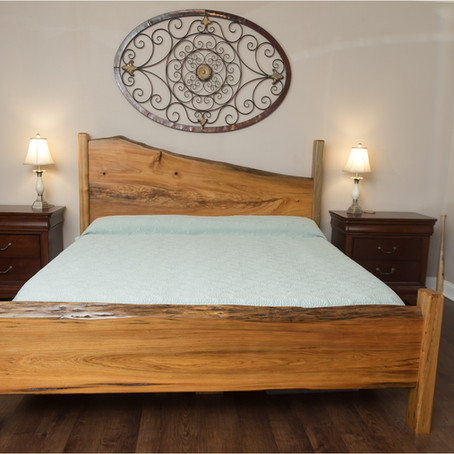 Cypress Slab King Sized Bed
