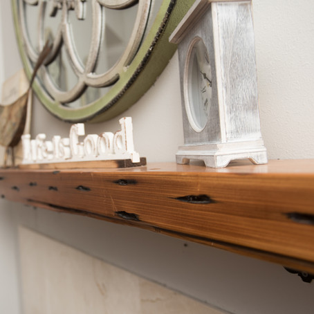 Reclaimed and Live Edge Cypress Mantel Pieces
