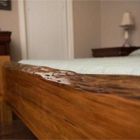 Cypress Slab Headboard