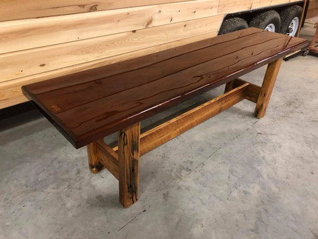 Mahogany Slab Table