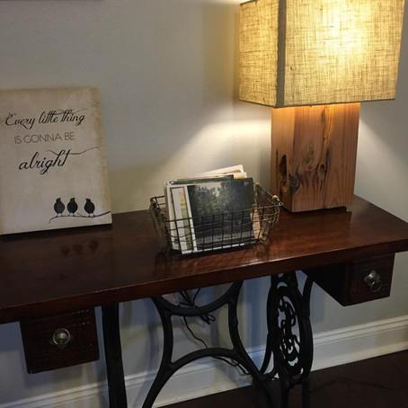 Reclaimed Cypress Beam Lamps
